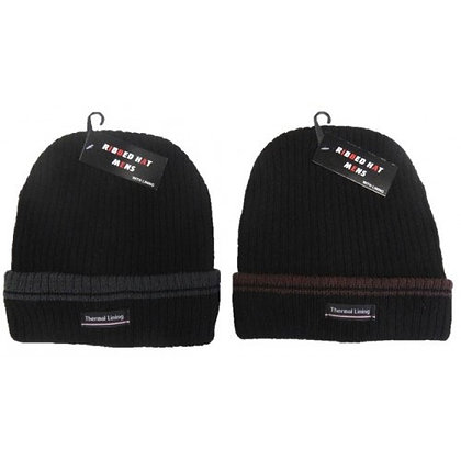 HEAVY RIBBED HAT WITH LINING