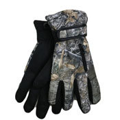 MENS WINTER SPORT GLOVES WITH GRIPPER PALM CAMOUFLAGE
