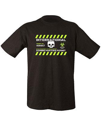 Zombie Hunting Permit T-shirt - Black