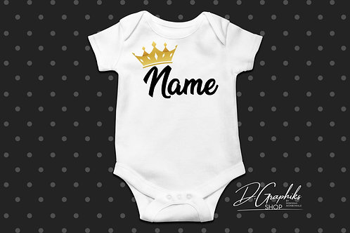 Custom Baby Onesie w/ Crown