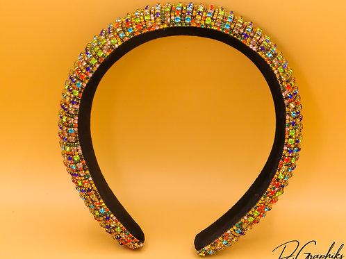 Golden Rainbow Padded Headband