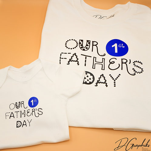 Our First Father's Day Combo (Onesie | Tee)