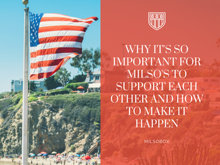 Why It's Important for MilSO's To Support Each Other and How to Make it Happen