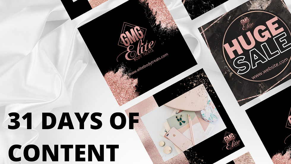 31 DAYS OF CONTENT