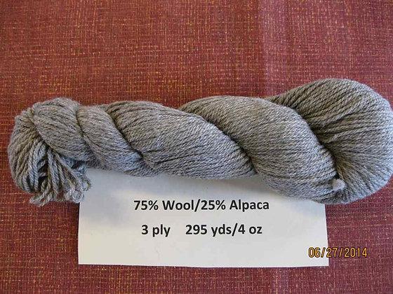 3 ply CVM Romeldale/Alpaca, 295 yds/4 oz