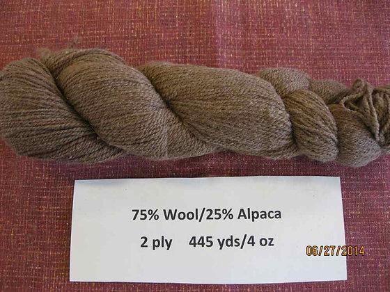 2 ply CVM Romeldale/Alpaca (75/25) 445 yds/4oz