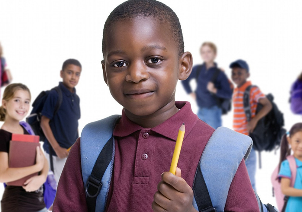 Children getting ready to go back to school