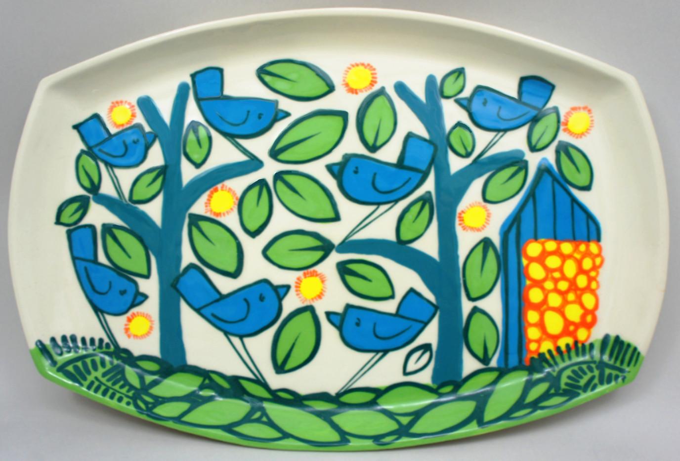 birds platter
