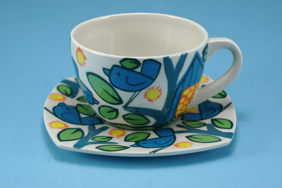 birds teacup