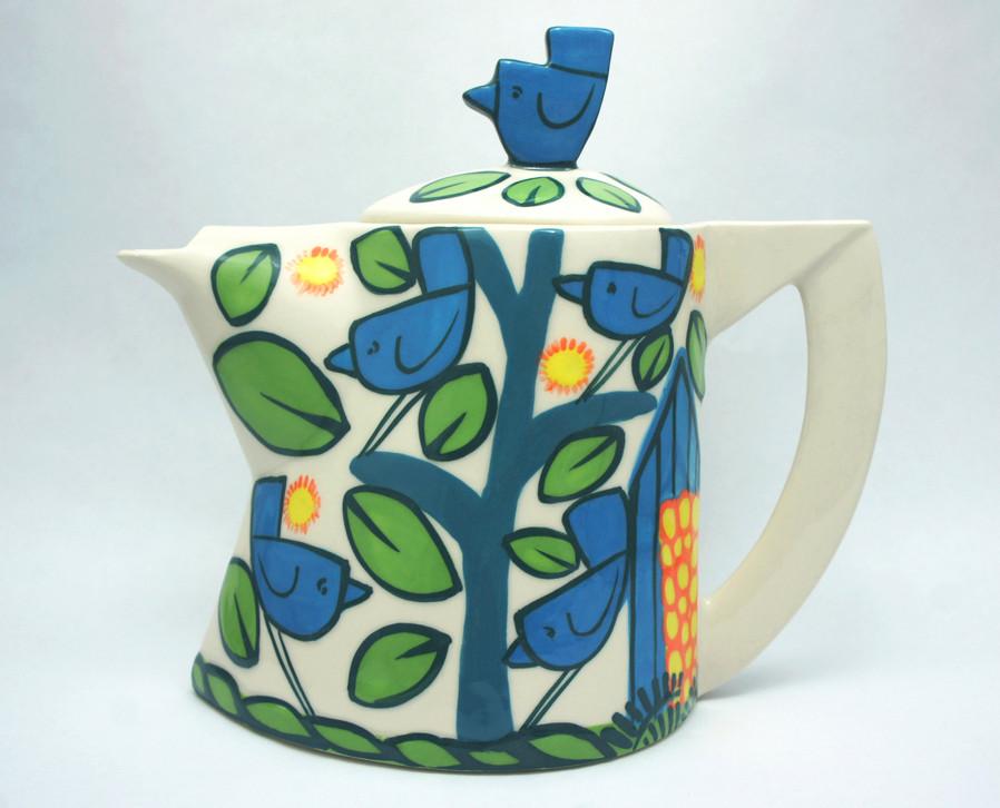 birds small teapot