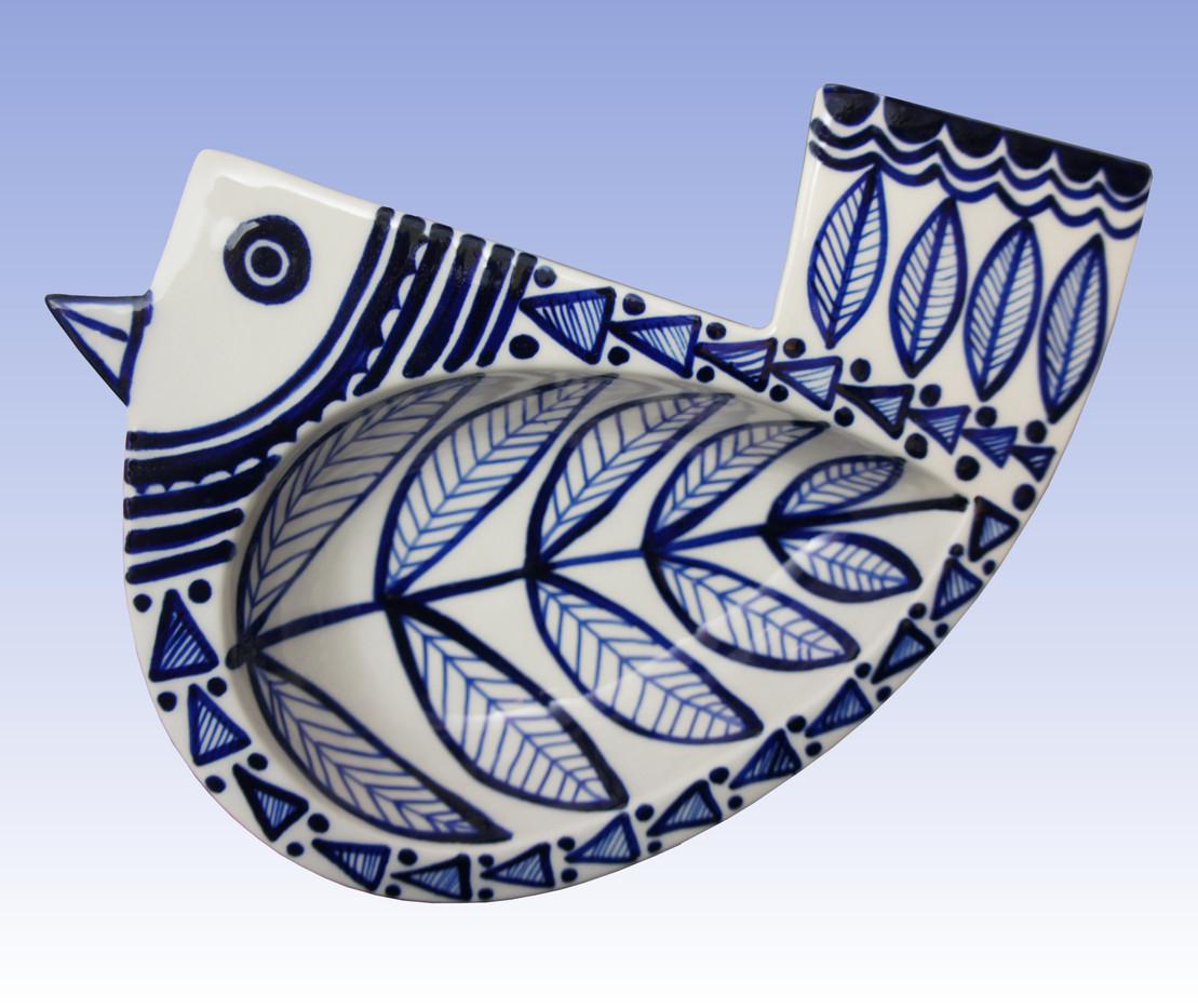 blue bird dish