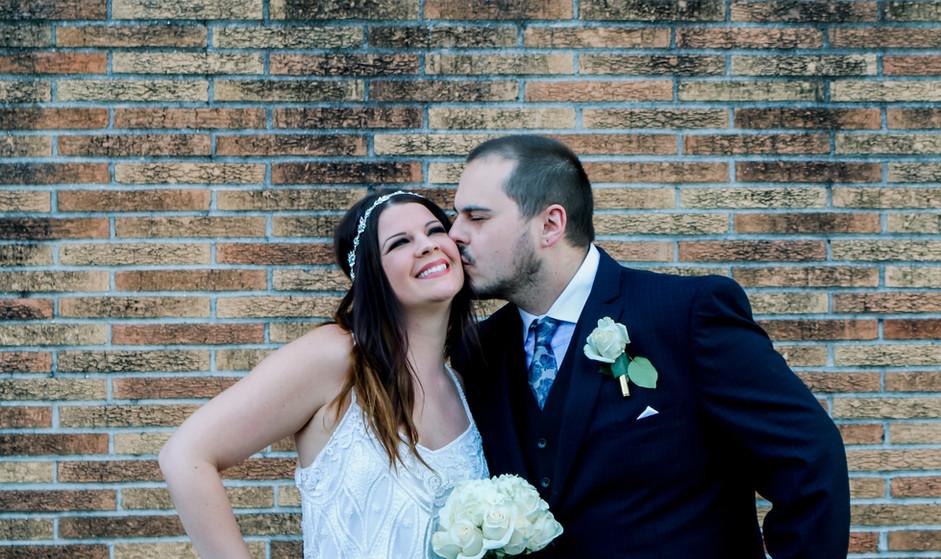 Wedding Day Kiss