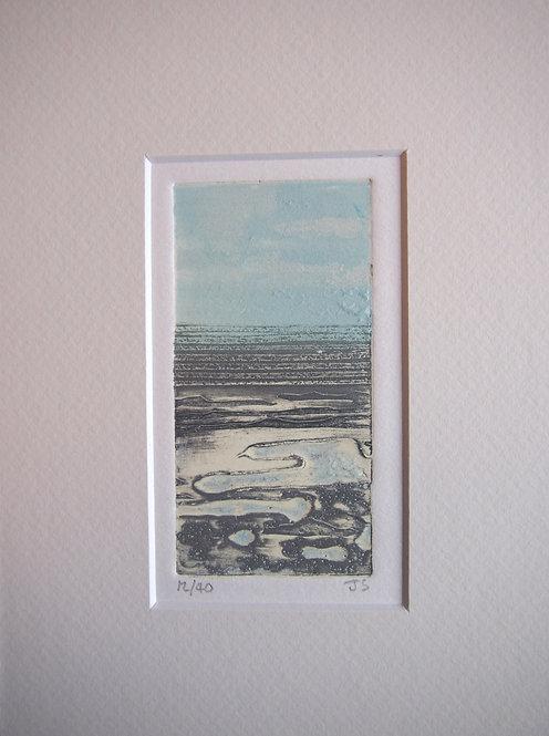 Seascape - Mini Collagraph