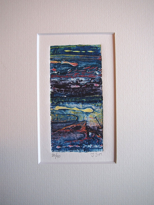 Sea - Mini Collagraph