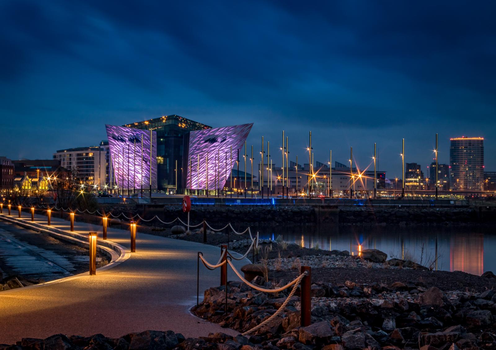 Titanic Quarter by Night