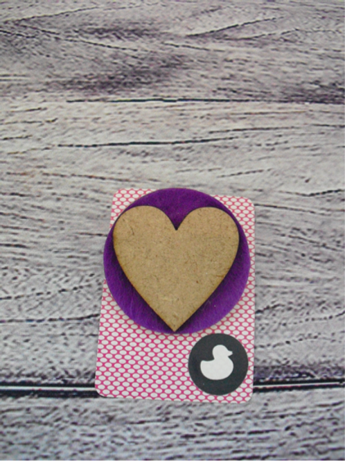 Handmade Purple Heart Brooch