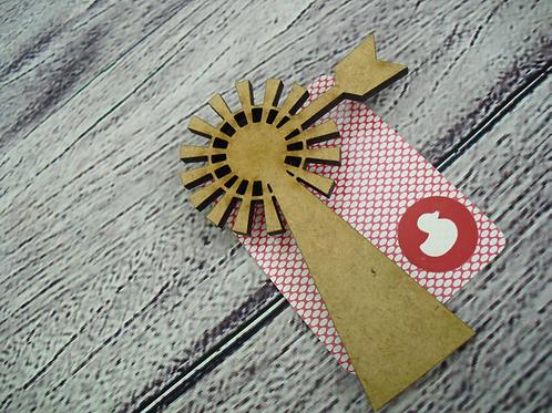 Handmade Windmill Brooch