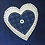 Thumbnail: Blue pinafore dress with cream heart & leggings