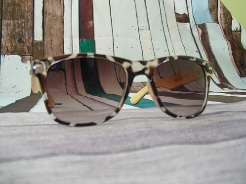 Retro Leopard and Bamboo Sunglasses