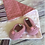 Thumbnail: Gift set with  sense cloth & pink newborn booties