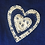 Thumbnail: Blue girls pinafore dress with cream heart detail