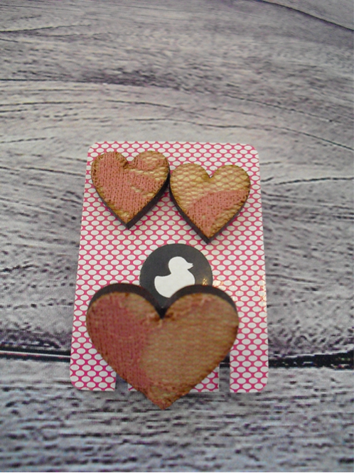 Handmade Heart Earring & ring set