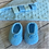 Thumbnail: Gift set with sense cloth & beige newborn bootie