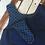 Thumbnail: Blue pinafore dress with cream heart & leggings