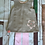 Thumbnail: Beige girls pinafore dress with pink leggings