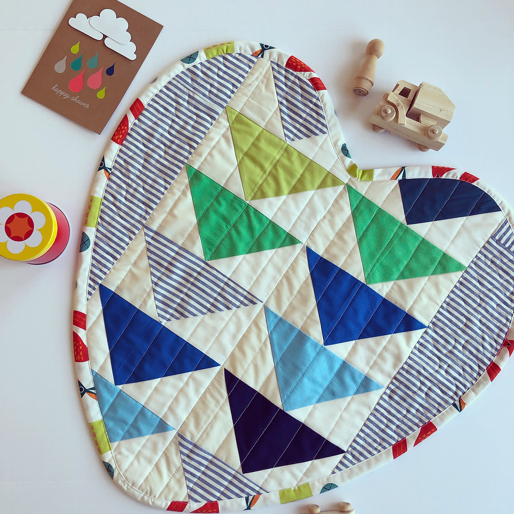 NICU Mini Heart Quilt from Stitch Bklyn