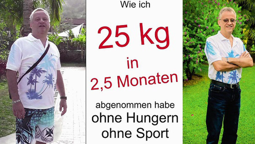 abgenommen habe ohne Hungern ohne Sport