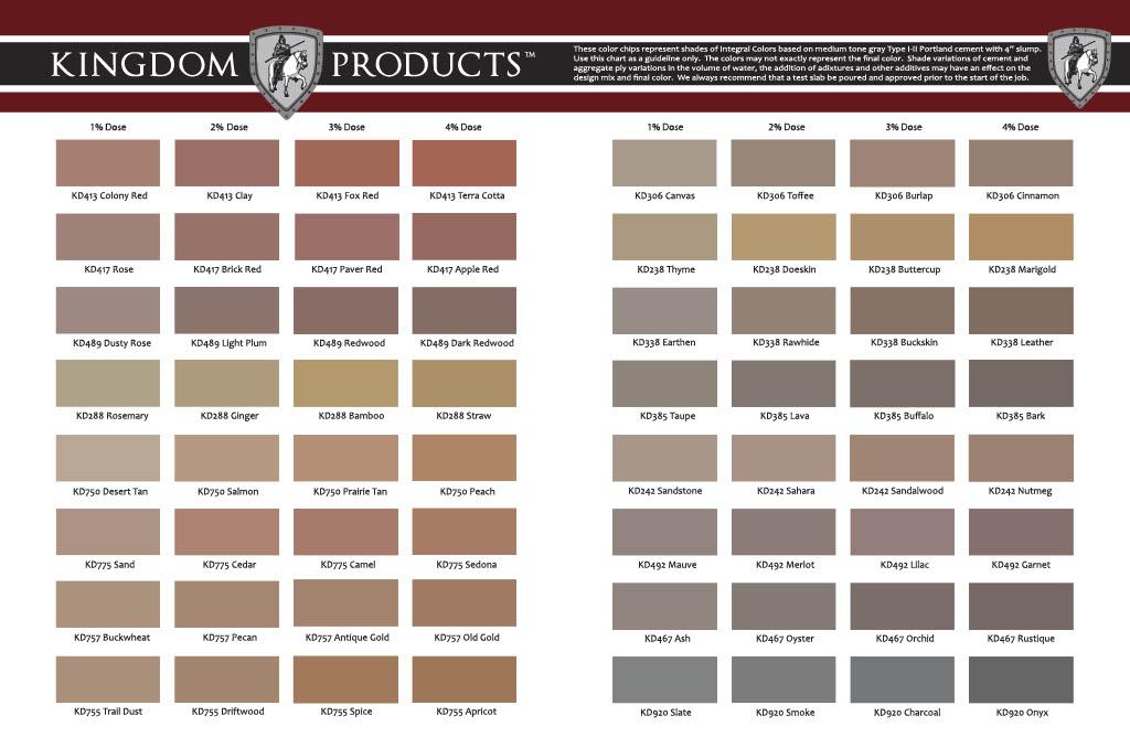 Concrete Colors Selection