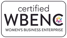 WBE certified, women owned enterprise