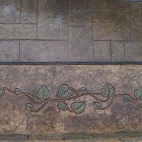 Ashlar Slate with grave vine decorated b