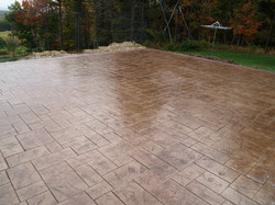 Ashlar slate square patio