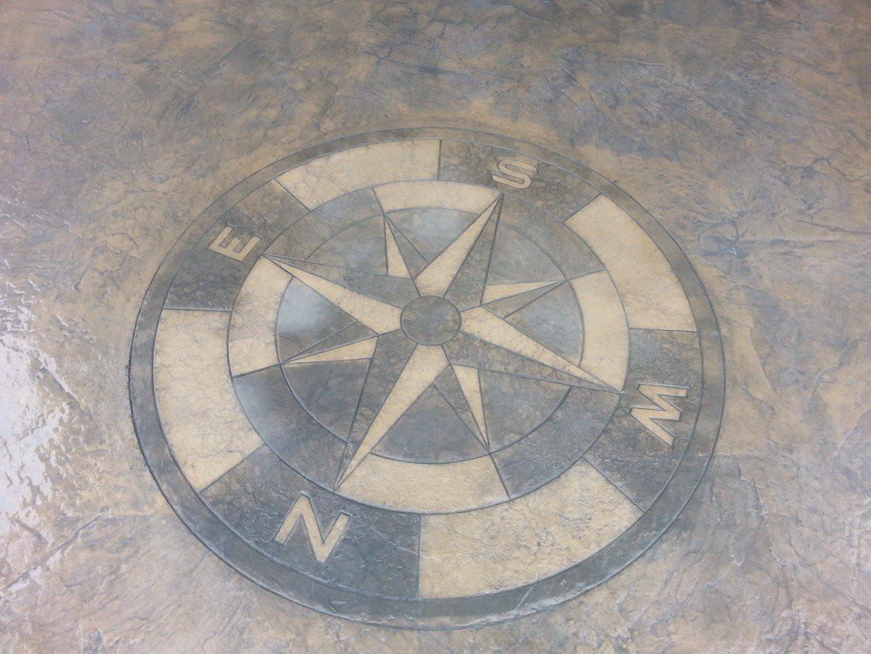 Stamp compass