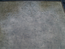 Roman Slate patio with compass