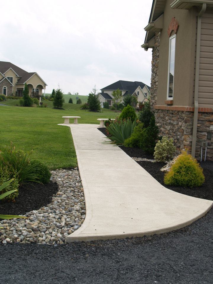 White concrete sidewalk