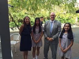 Girls From Girls Invent Meet With Johnson And Johnson CEO Gavin Fox Smith To Discuss Their Invention