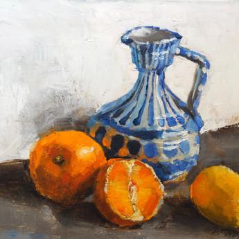 Vase and Fruit