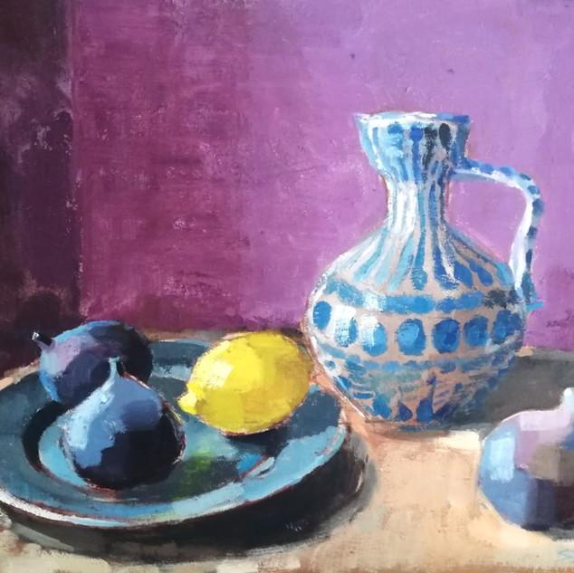 Vase with Lemon