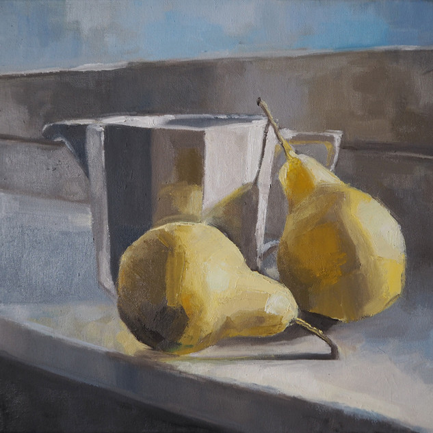 Pears on the  window sill