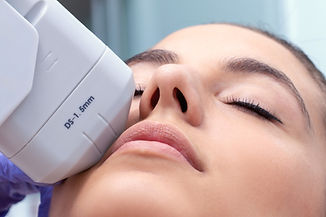 facial rejuvenation treatment in a medical aesthetics clinic