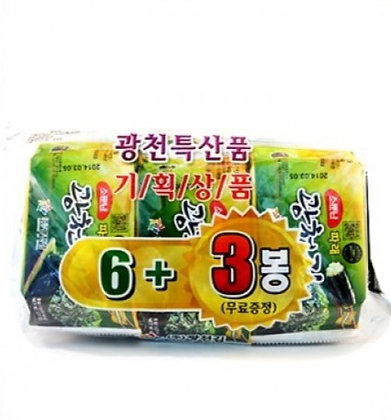 Kwangcheon Seasoned Seaweed 6+3 5gx9
