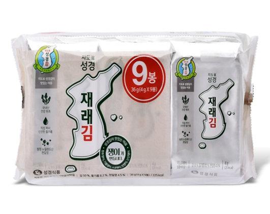 Sung Gyung Seasoned Sliced Laver 4gx9=36g