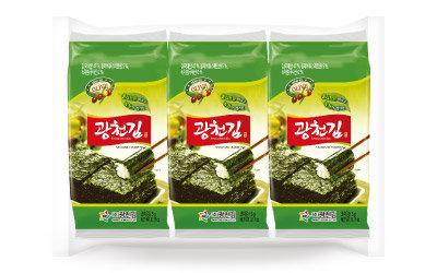 Kwancheon Olive Oil & Green Tea Seasoned Seaweed 5gx3