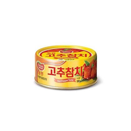 Dong Wun Hot Pepper Tuna 100g