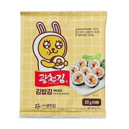 KwangCheon Kim Muzi Roasted Seaweed 20g