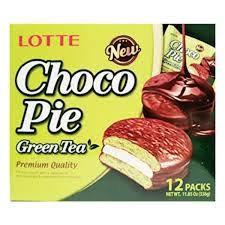 Lotte Choco Pie Green Tea 336g (12x28g)