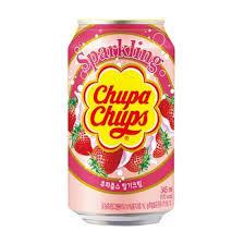 Namyang Chupa Chups Sparkling Strawberry Cream 345ml